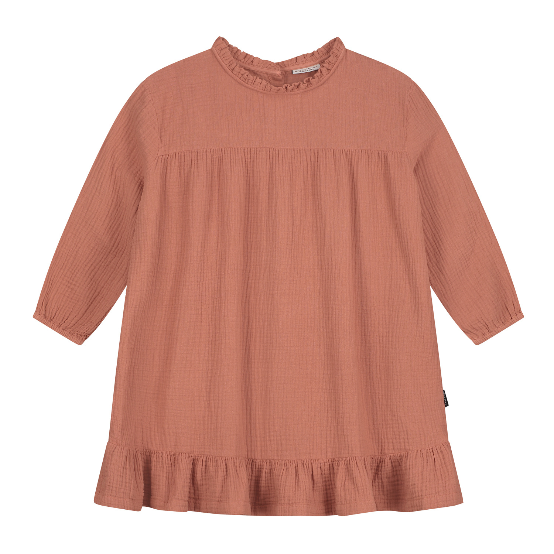 Lois ruffle dress summer cinnamon-1