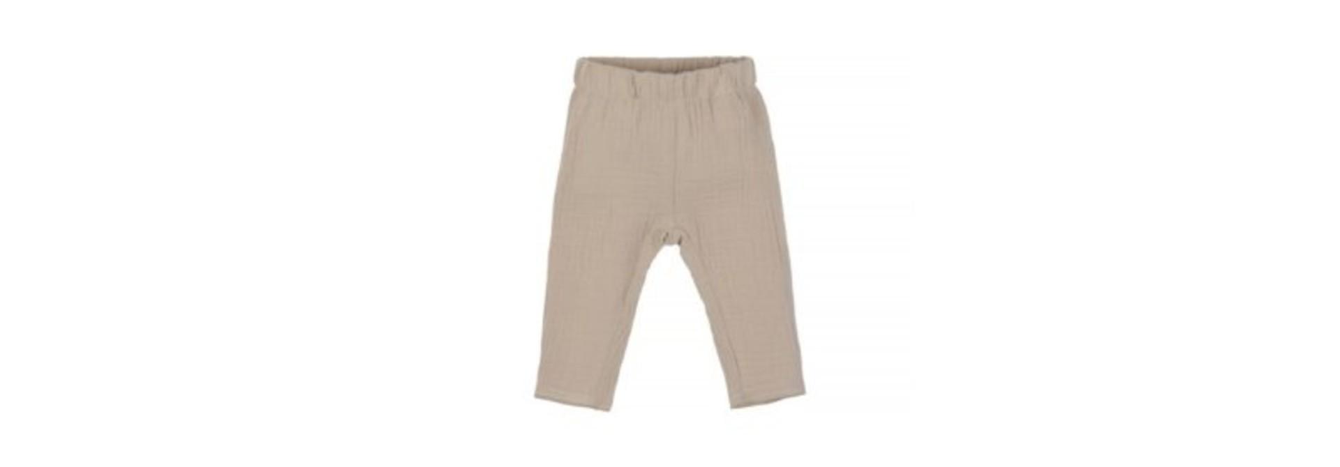 Baby mousseline pants - naturel