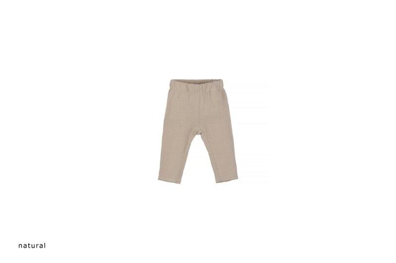 Baby mousseline pants - naturel-1