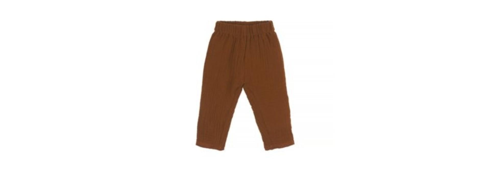 Baby mousseline pants - caramel
