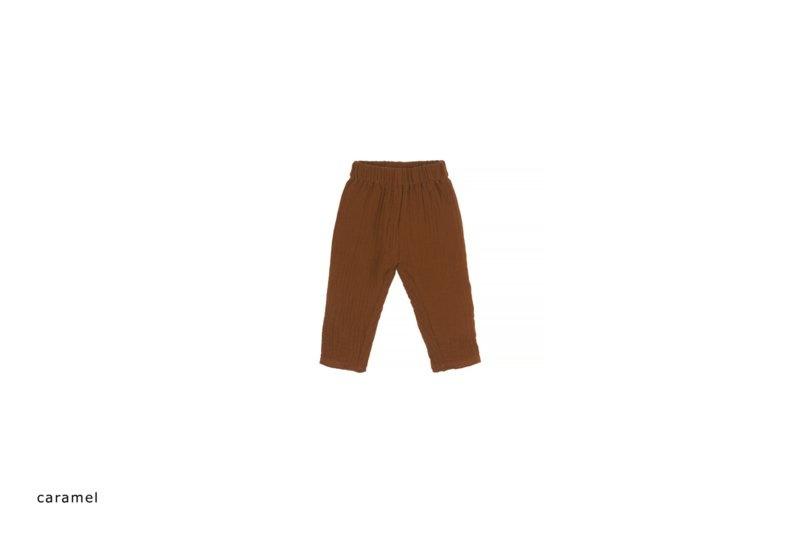 Baby mousseline pants - caramel-1