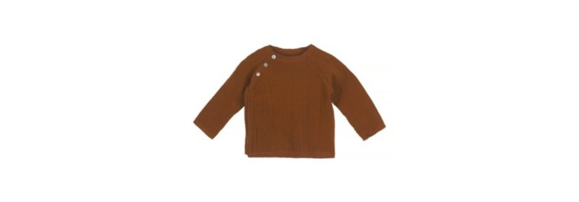 Baby mousseline top - caramel