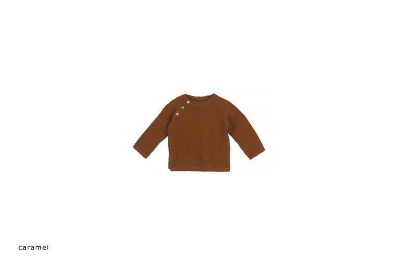 Baby mousseline top - caramel-1