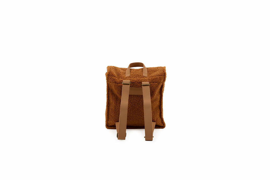 Teddy backpack - caramel-2