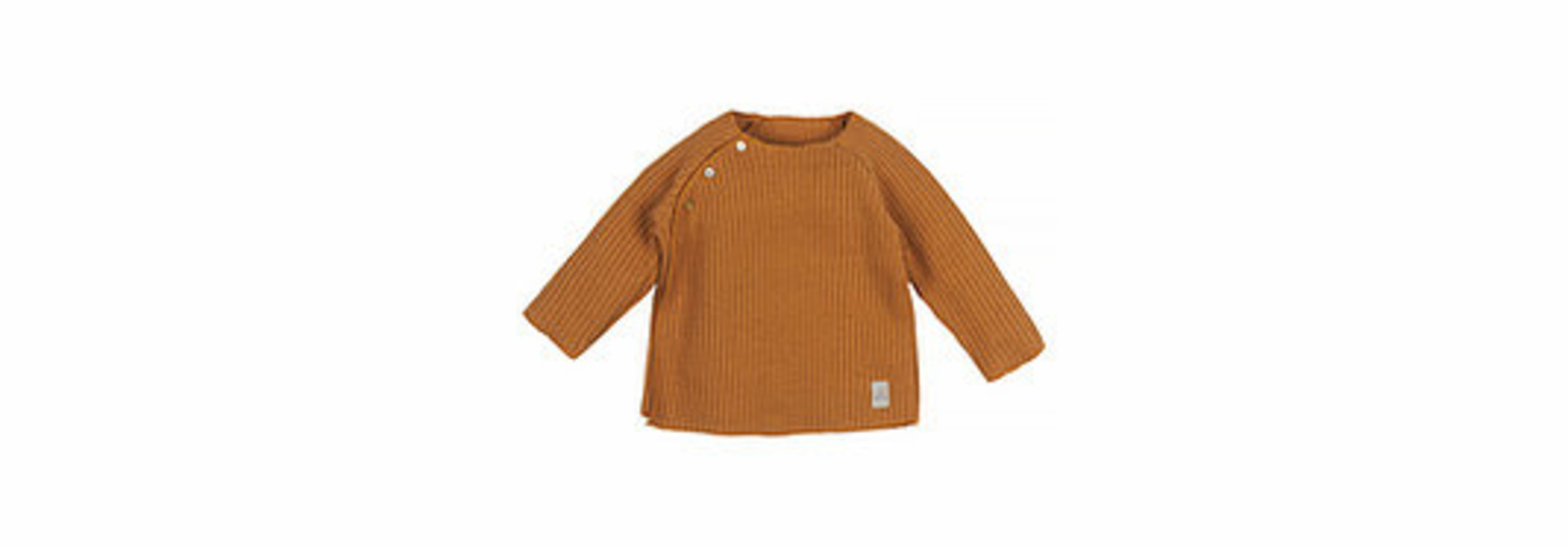 Baby knitted rib top - caramel