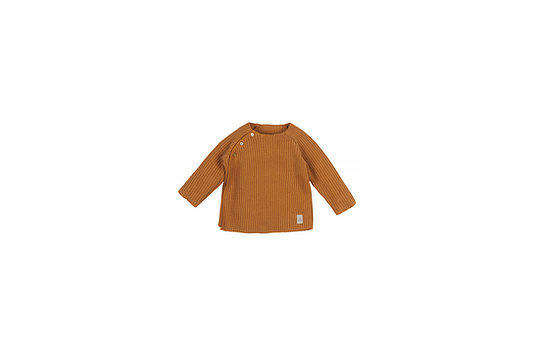 Baby knitted rib top - caramel-1