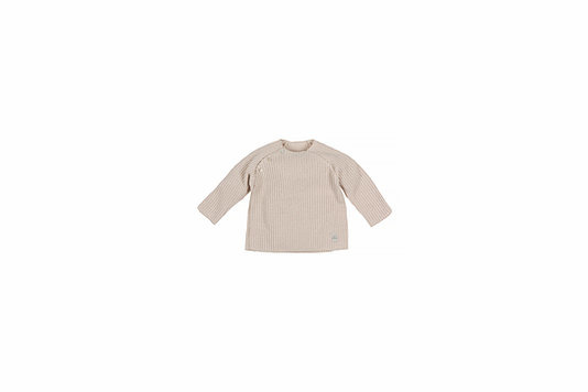Baby knitted rib top - sand-1