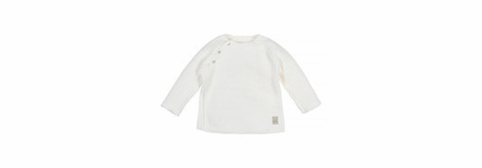 Baby knitted rib top - off-white