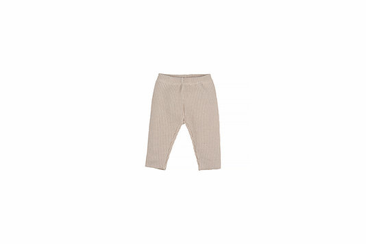 Baby knitted rib pants - natural-1