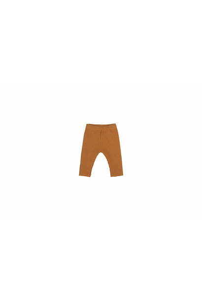 Baby knitted rib pants - sand