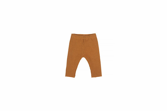 Baby knitted rib pants - sand-1