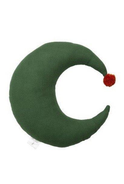 Moon pillow Pompom smaal - Eden Green