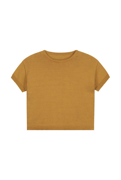 Mini summer knitted sweater sandstone