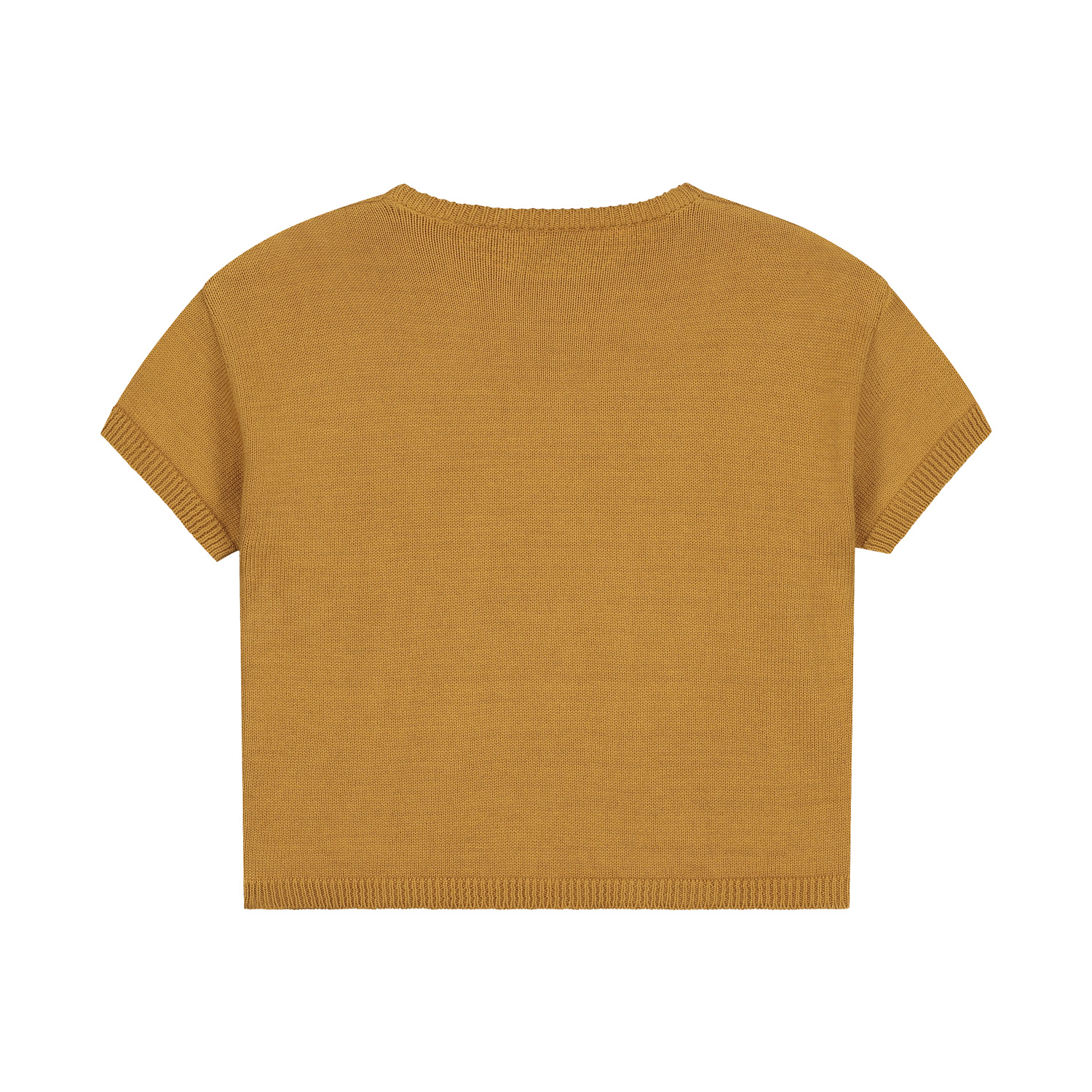 Mini summer knitted sweater sandstone-2