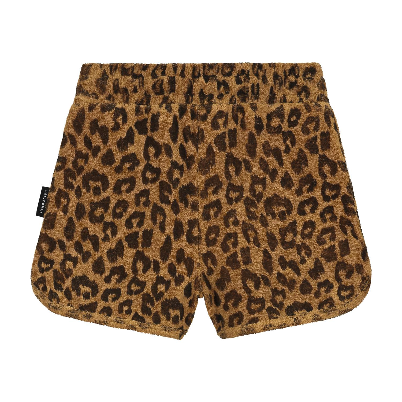 Leopard towel shorts sandstone-2