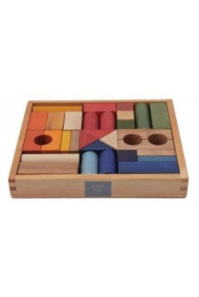 Rainbow Blocks in tray - 30 pcs