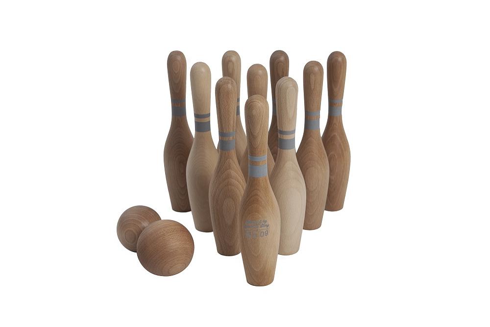 Natural Bowling set - 10 pcs-1