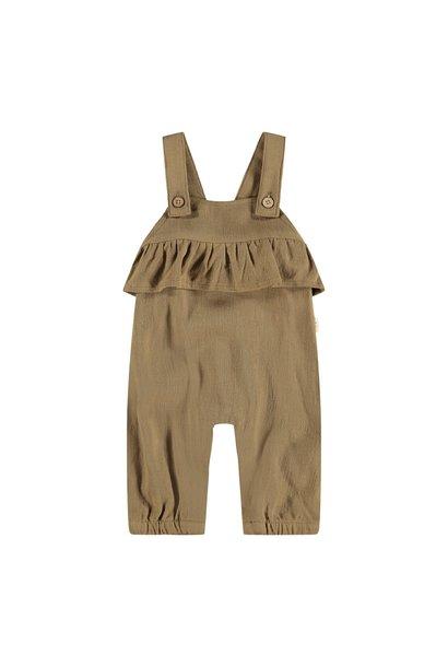 Edolie Loose Overall Pants - Ermine