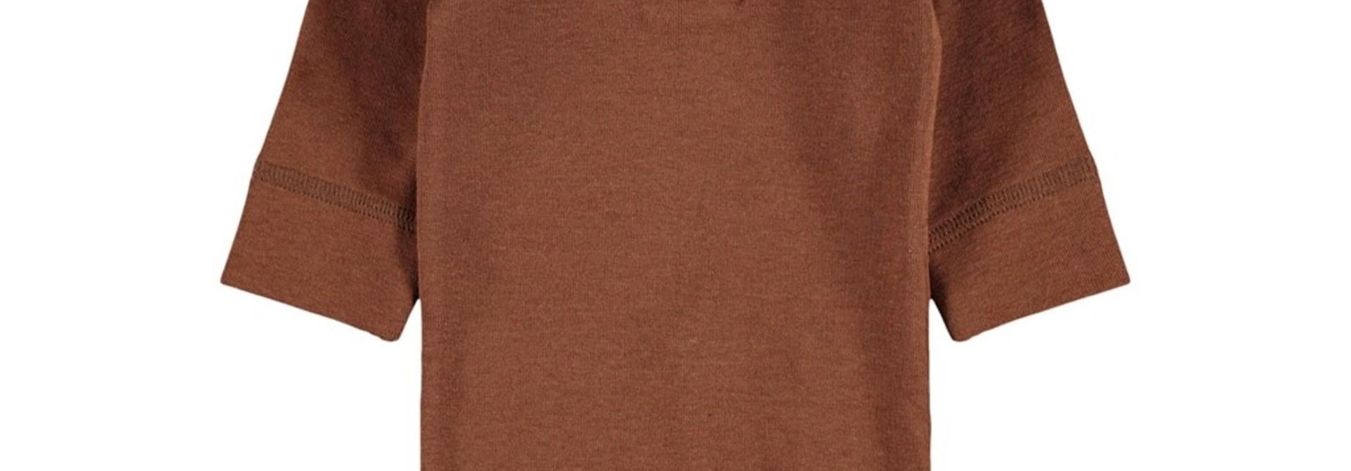 Geo Longsleeve Slim Body Solid - Tobacco Brown