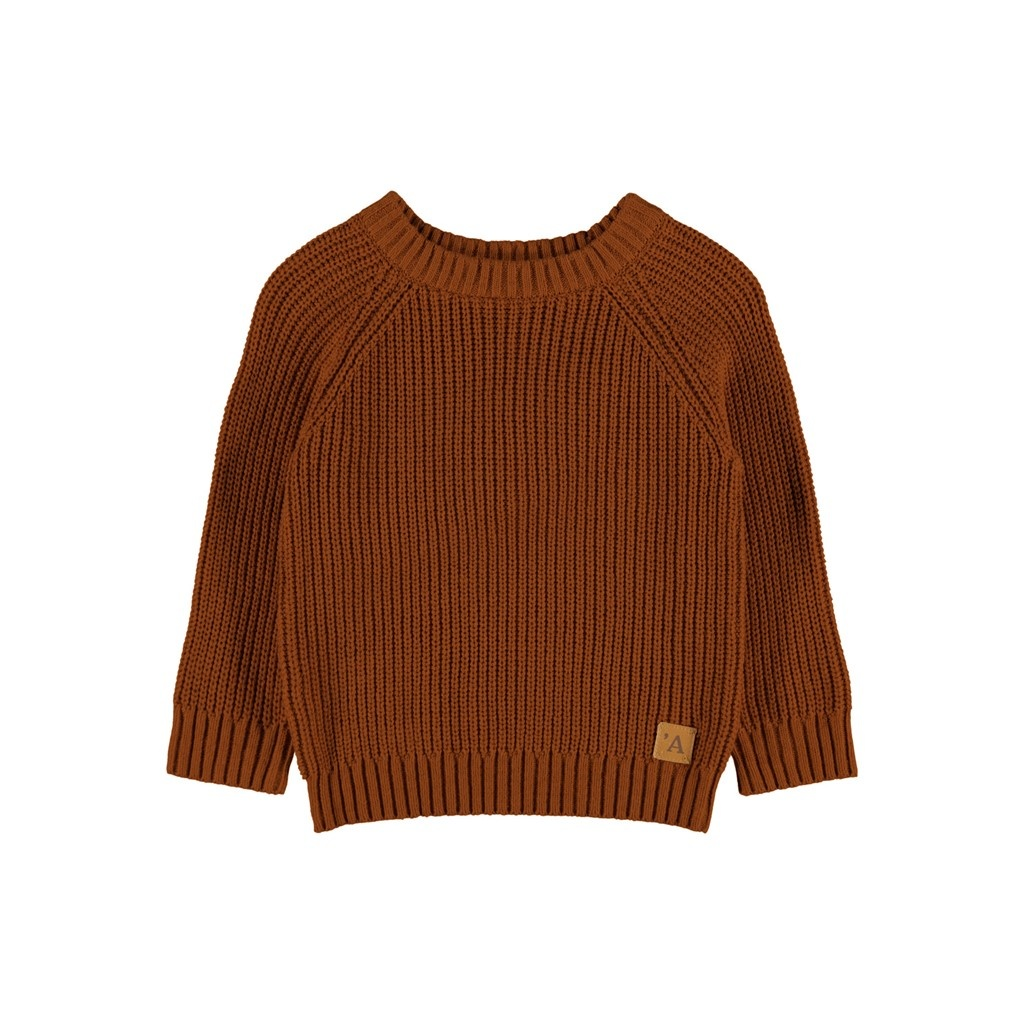 Imilio Longsleeve Knit - Apple Cinnamon-1