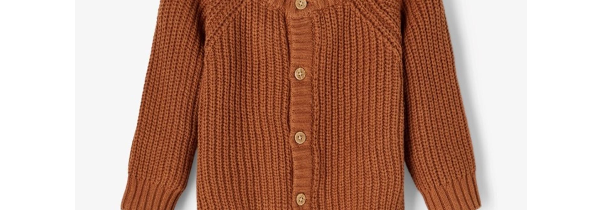 Imilio Longsleeve Knit cardigan - Apple Cinnamon