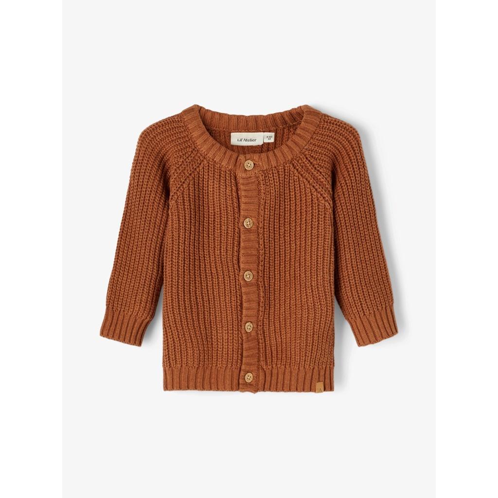 Imilio Longsleeve Knit cardigan - Apple Cinnamon-1