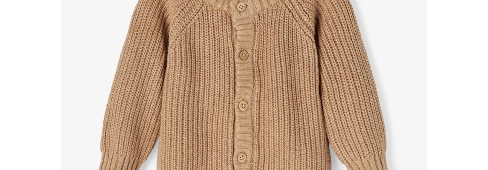 Imilio Longsleeve Knit cardigan - Glazed Ginger