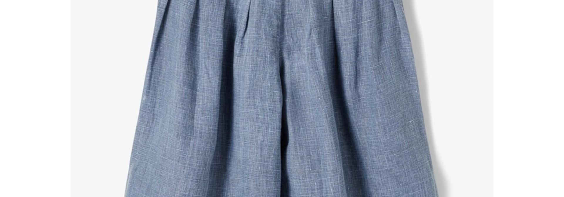Sally Culotte Pant - Medium Blue Denim