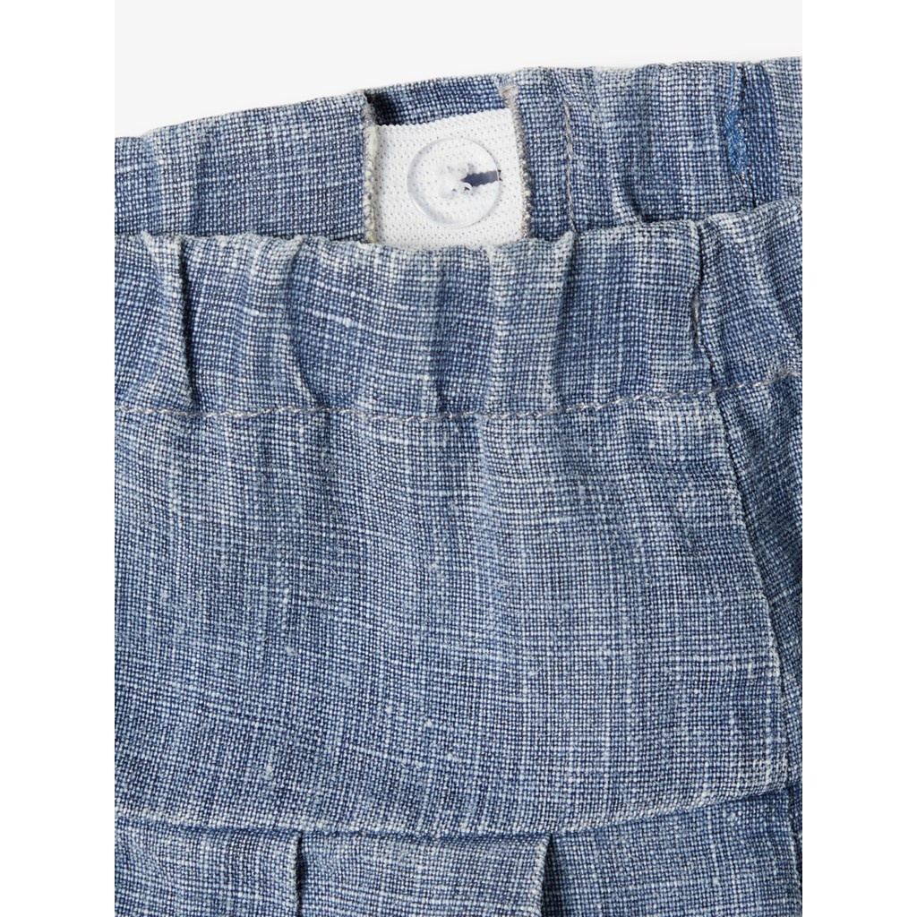 Sally Culotte Pant - Medium Blue Denim-3