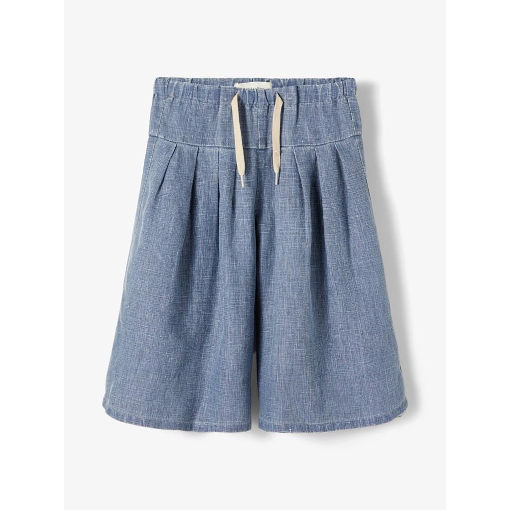 Sally Culotte Pant - Medium Blue Denim-4
