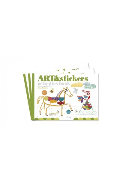 Art & Stickers knutselboek