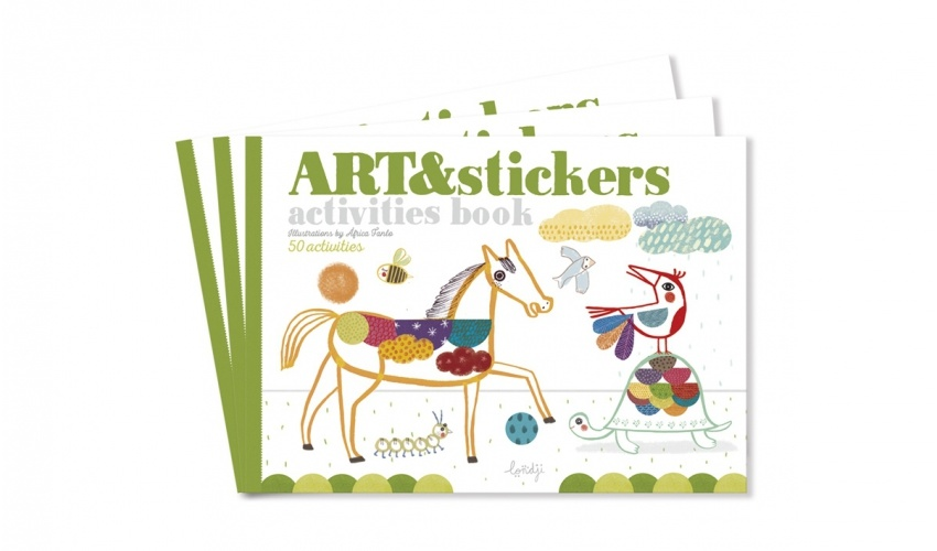 Art & Stickers crafts book-1