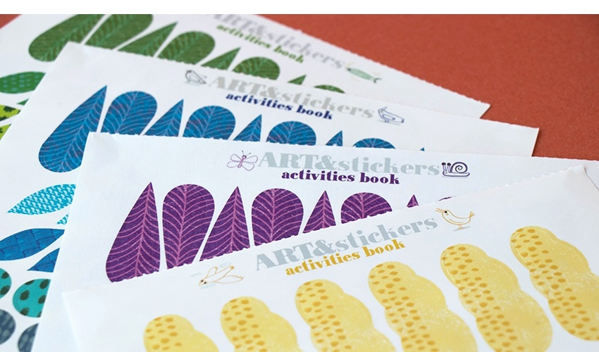 Art & Stickers crafts book-9