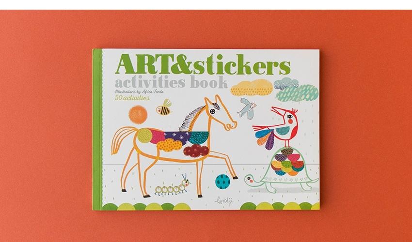 Art & Stickers crafts book-10