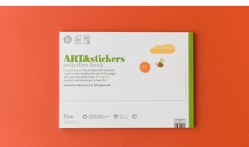 Art & Stickers crafts book-11