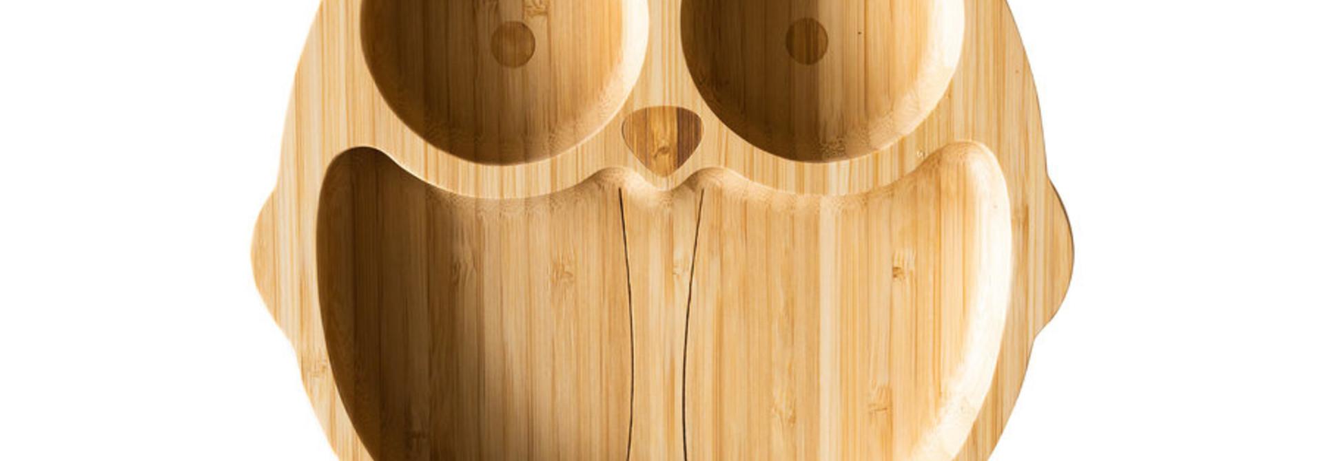 Bamboe bord Uil  - melamine vrij