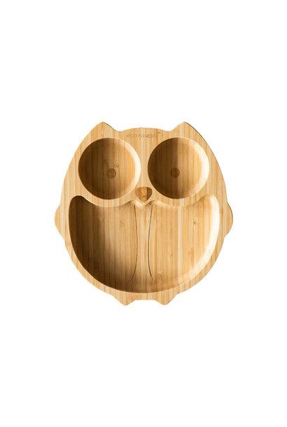 Bamboo plate Owl - no melamine