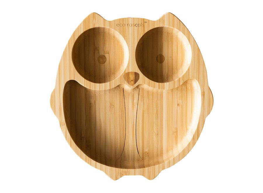 Bamboe bord Uil  - melamine vrij-1