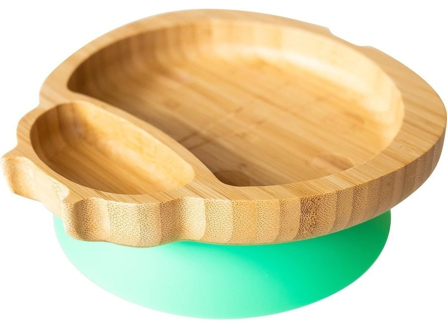Bamboo plate Lady bird - no melamine-7