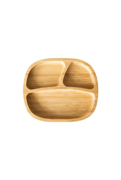 Bamboe bordje met zuignap - melamine vrij