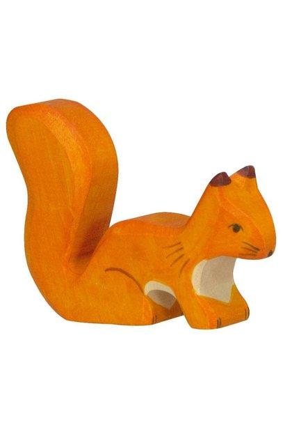 Wooden squirrel - orange