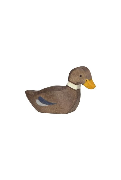 Wooden duck - swimming