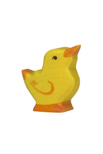 Wooden chick - head raised