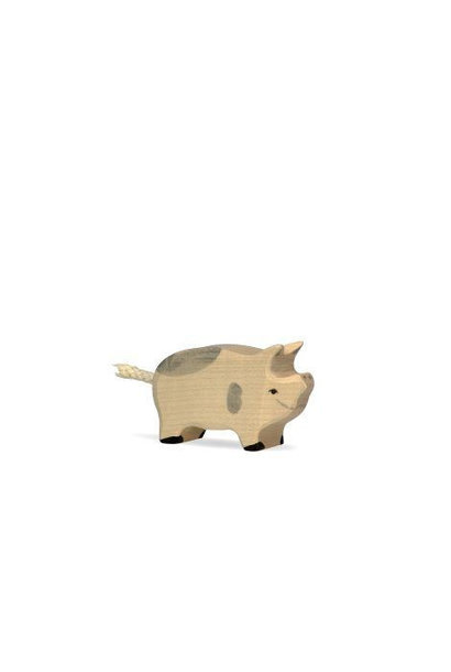 Wooden piglet - spotted