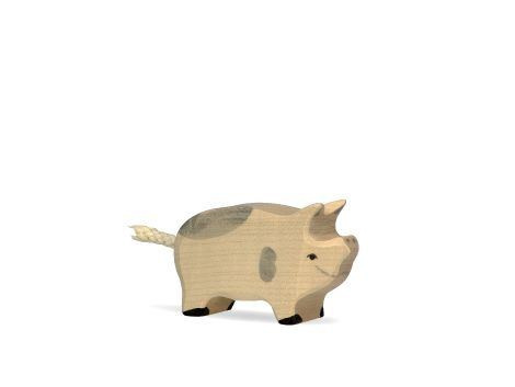 Wooden piglet - spotted-1