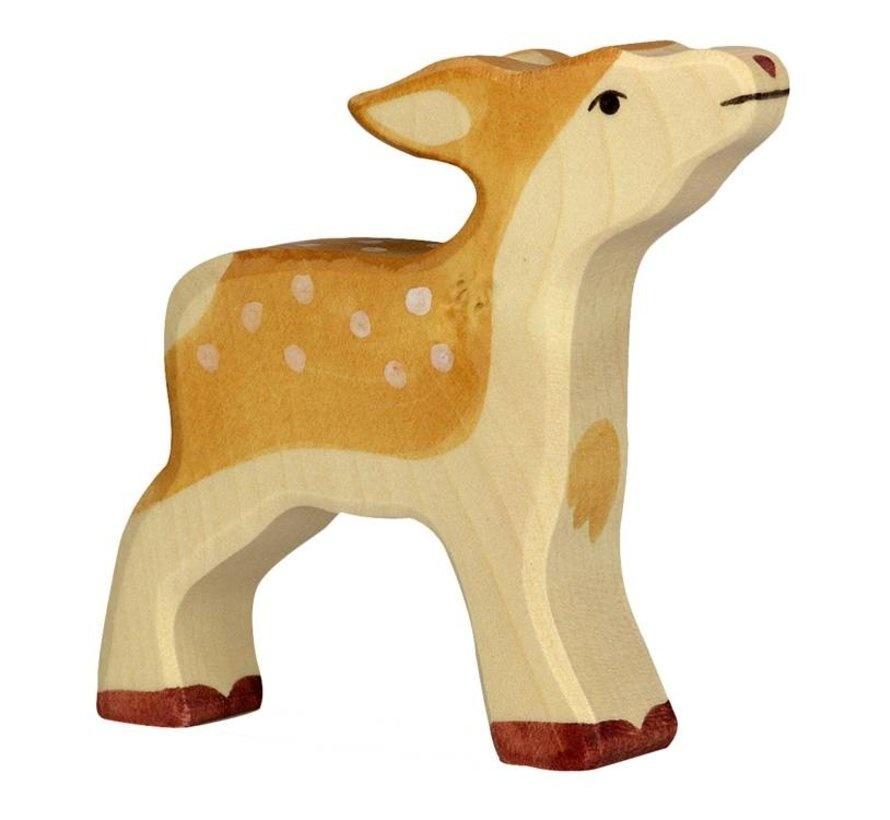 Wooden deer - calf-1