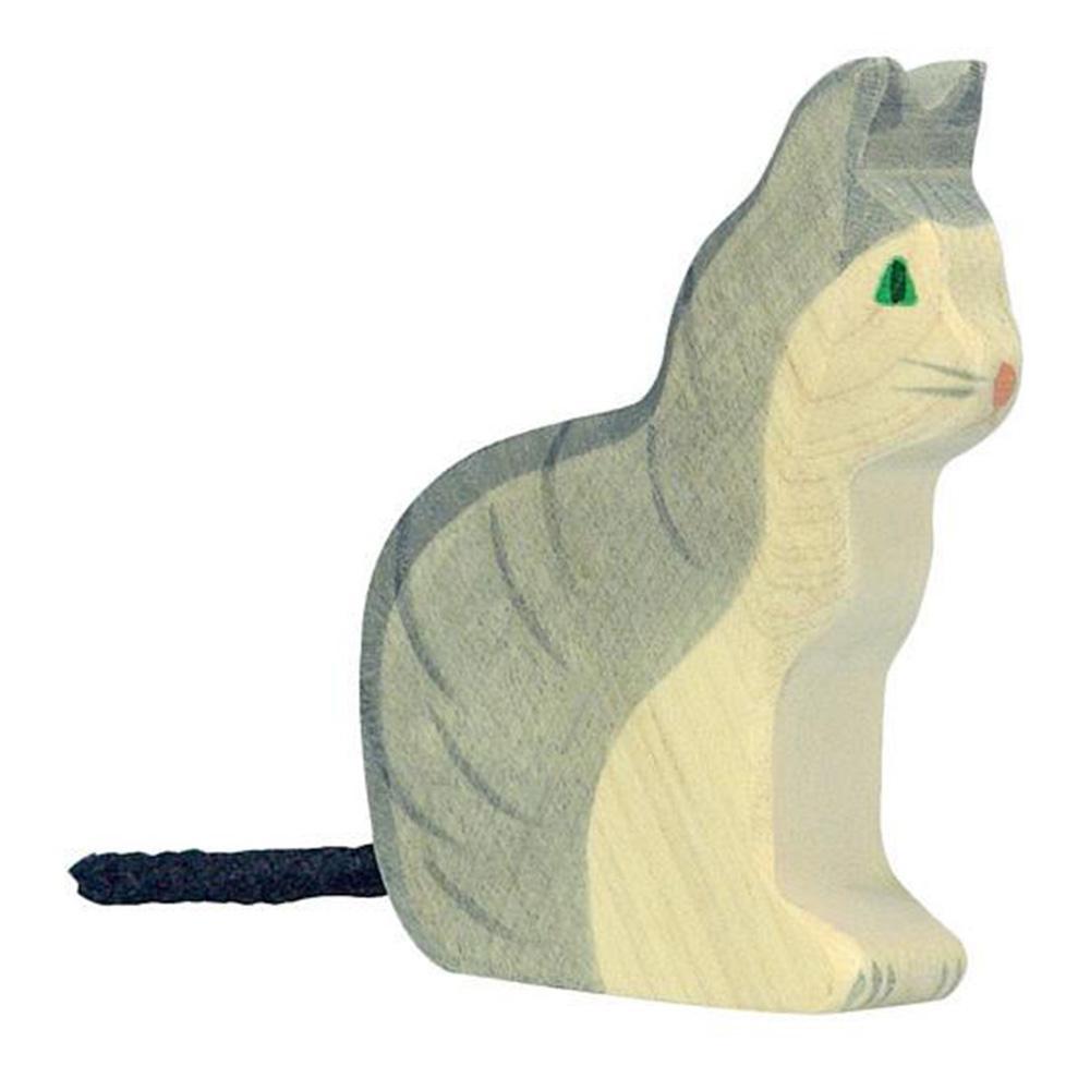 Houten kat / poes-1