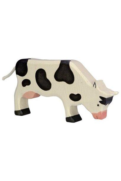 Wooden cow - feeding - black