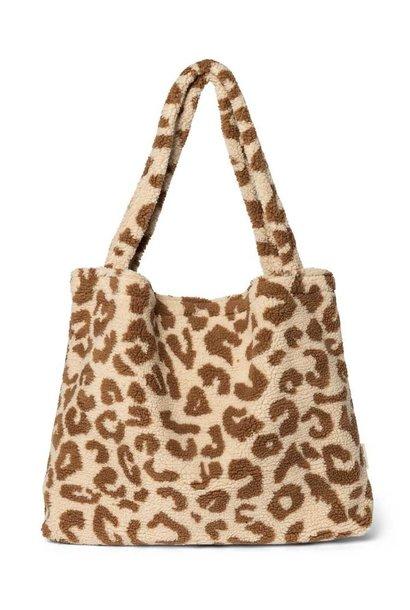 Teddy leopard ecru mom-bag
