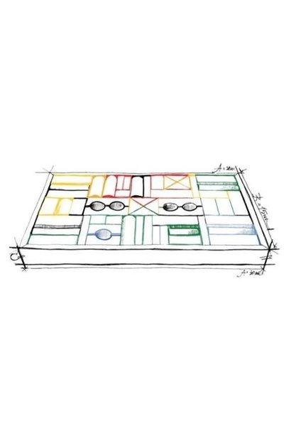 Rainbow blocks in tray - 54 pcs